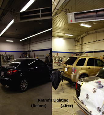 Retrofit Lighting - Before & After